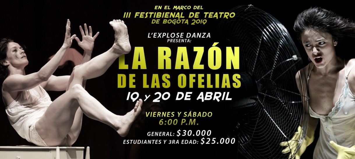 La razón de las ofelias – III Festibienal de teatro de Bogotá2019